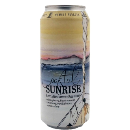 Coastal Sunrise (v2) Tart Cherry, Red Raspberry, Black Currant, Vanilla Beans, Marshmallow Humble Forager Brewery