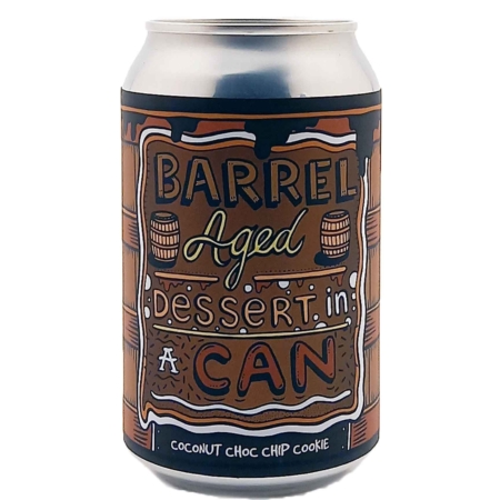 Barrel Aged Dessert In A Can - Coconut Choc Chip Cookie Amundsen Brewery